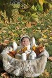 Autumn newborn baby Royalty Free Stock Photo