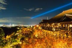 Free Autumn Night Light Up At Kiyomizu-dera Temple And The Large Vera Royalty Free Stock Image - 113696796