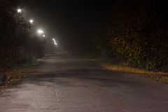 Autumn night in ukrainain village Stock Photography