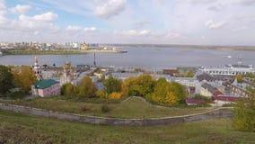 Autumn Nizhny Novgorod Russia stock footage