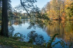 Autumn in Norrköping, Sweden royalty free stock photography
