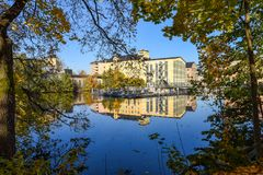 Autumn in Norrköping, Sweden royalty free stock images
