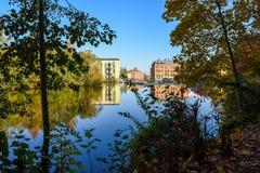 Autumn in Norrköping, Sweden stock photos