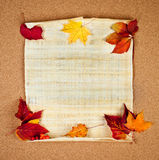 Autumn note Royalty Free Stock Photos