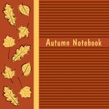 Autumn Notebook cover. Background for autumn notebook cover Royalty Free Stock Images