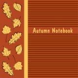 Autumn Notebook-dekking Royalty-vrije Stock Afbeeldingen