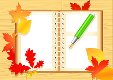 Autumn notepad Royalty Free Stock Image