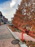 Autumn. In Novi Pazar, Srbija stock photography