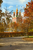 Autumn Novodevichy Monastery in Moscow, Russia. Stock Image
