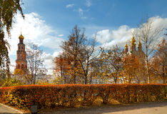Autumn Novodevichy Monastery in Moscow, Russia. Royalty Free Stock Photo