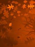Autumn oak background Royalty Free Stock Photography