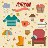 Autumn objects Stock Images