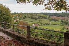 Autumn in Occitania. Autumn has taken place in a beautiful town called Castelnau-de-Montmiral located in the Occitania. This a beautiful region in the Southern stock photos