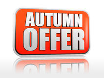 Autumn offer banner Royalty Free Stock Photo