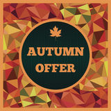 Autumn offer Stock Photos