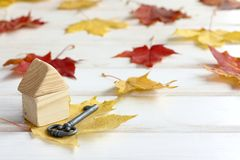 Autumn offer a real estate royalty free stock image