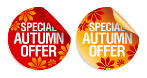 Autumn offer stickers. Stock Image