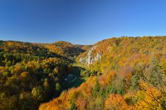 Autumn in Ojcow National Park. Royalty Free Stock Image