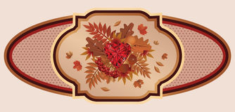 Autumn old banner, vector Royalty Free Stock Photography
