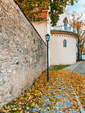 Autumn in old city of Cesis, Latvia Royalty Free Stock Images