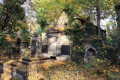 The autumn old Prague Cemetery Stock Images