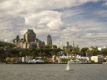 Autumn Old Quebec. Colorful old Quebec city during Fall season Royalty Free Stock Photo