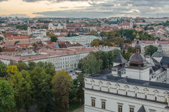 Autumn in Old Town of Vilnius, Lithuania Royalty Free Stock Photo