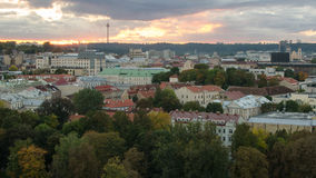 Autumn in Old Town of Vilnius, Lithuania Royalty Free Stock Image