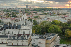 Autumn in Old Town of Vilnius, Lithuania Royalty Free Stock Photography