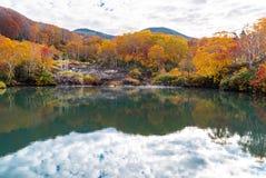 Autumn Onsen Lake Aomori Japan Royalty Free Stock Photos