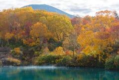 Autumn Onsen Lake Aomori Japan Stock Photography