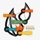 Autumn option infographic, banner minimal design Stock Photography