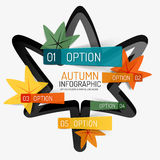 Autumn option infographic, banner minimal design Stock Images