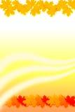 Autumn Orange Background. Autumn Orange Red Elegant Background Design with autumn leaves royalty free illustration