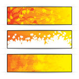 Autumn orange banners with tree Stock Photo