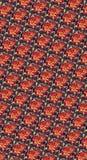 Autumn Orange Red och guld Rose Pattern Royaltyfri Bild
