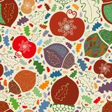 Autumn Orchard Apples y bellotas libre illustration
