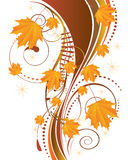 Autumn Ornament With Maple Leaves Royalty Free Stock Images