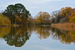 Autumn at the Ornamental Pond, Southampton royalty free stock images
