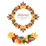 Autumn Ornaments - Wreath and Garland Stock Photography