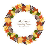 Autumn Ornaments - Wreath Stock Photo