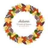 Autumn Ornaments - Wreath Stock Photo