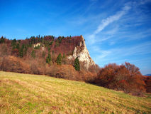 Autumn at Ostra Skala locality, Slovakia Royalty Free Stock Photography