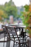 Autumn outdoor cafe Stock Photo