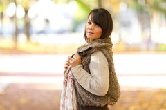 Autumn outdoor portrait of beautiful young woman - Caucasian peo Stock Images
