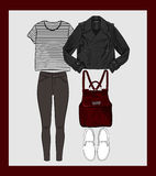 Autumn outfit  illustration Stock Photography