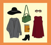 Autumn outfit  set Stock Photography