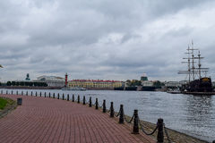 Autumn over the Neva river in St. Petersburg, Russia Stock Photo