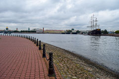 Autumn over the Neva river in St. Petersburg, Russia Stock Images