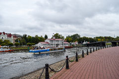 Autumn over the Neva river in St. Petersburg, Russia Royalty Free Stock Photo